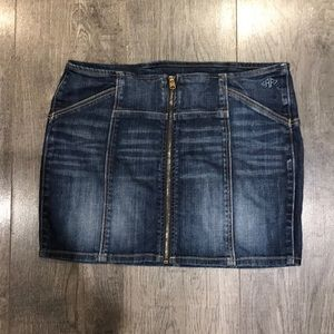Abercrombie & Fitch Zip Front Denim Skirt 10